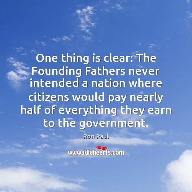 One thing is clear: The Founding Fathers never intended a nation where Image