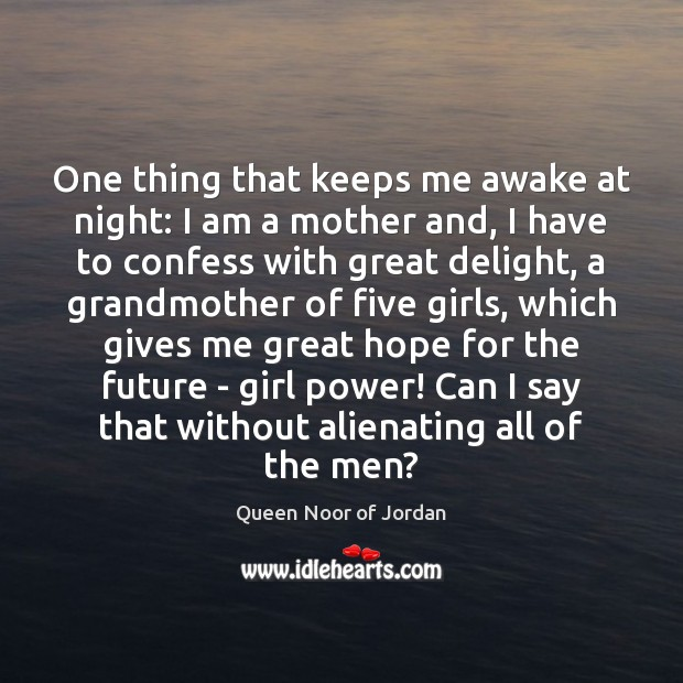 Image, One thing that keeps me awake at night: I am a mother