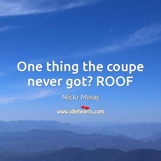 One thing the coupe never got? ROOF Image