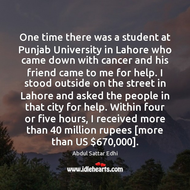 Image, One time there was a student at Punjab University in Lahore who