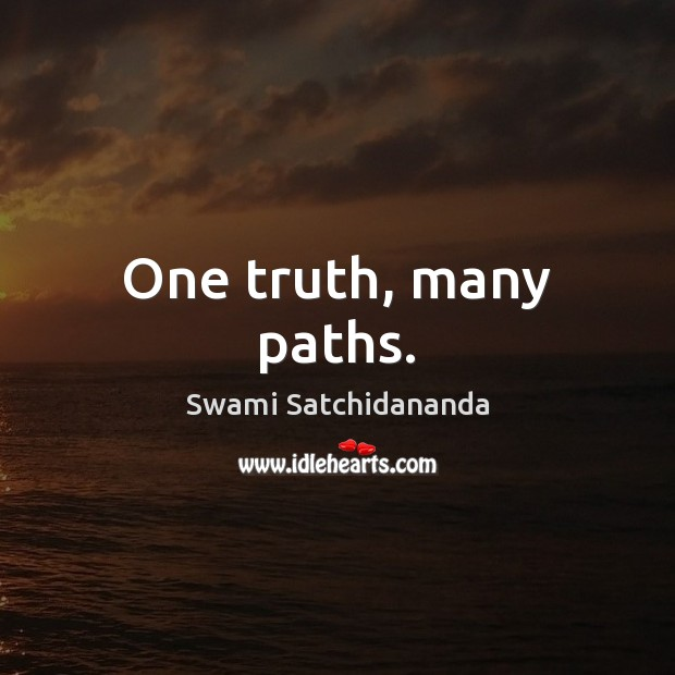 Image, One truth, many paths.