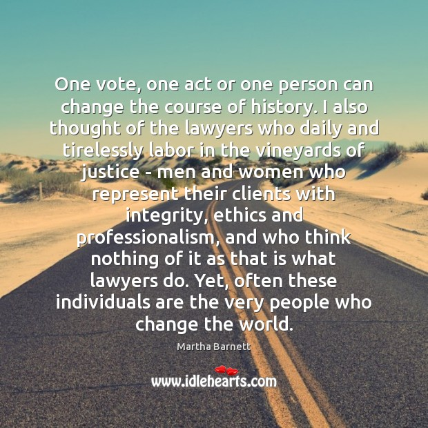 One vote, one act or one person can change the course of Image