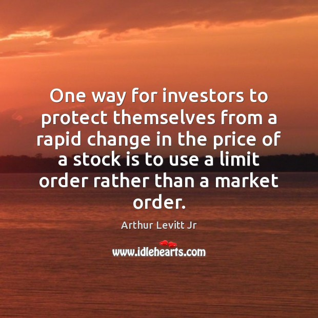 Image, One way for investors to protect themselves from a rapid change in