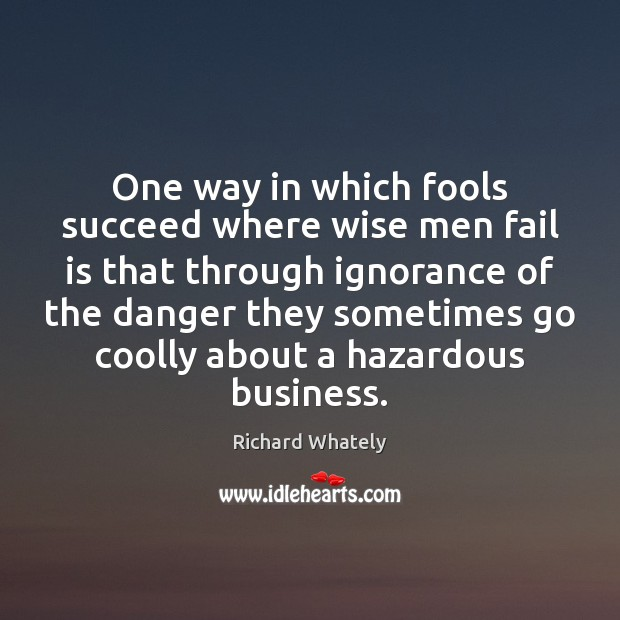 One way in which fools succeed where wise men fail is that Image