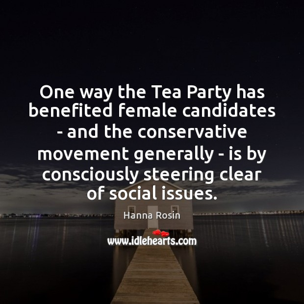 One way the Tea Party has benefited female candidates – and the Image