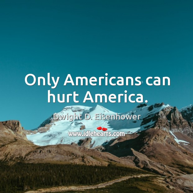 Image, Only americans can hurt america.
