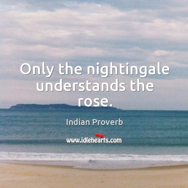 Image, Only the nightingale understands the rose.