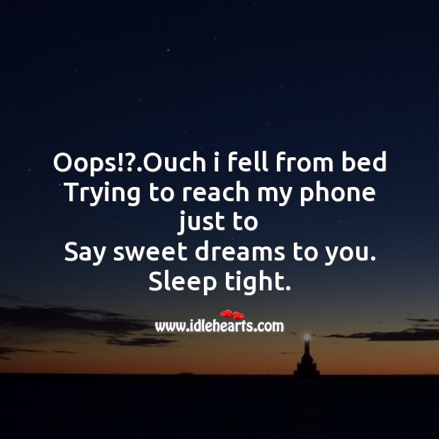 Oops!?.ouch I fell from bed Image