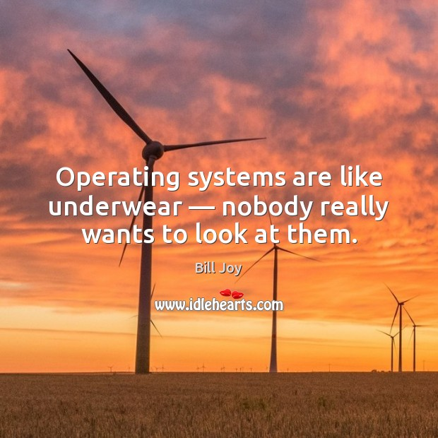 Image, Operating systems are like underwear — nobody really wants to look at them.