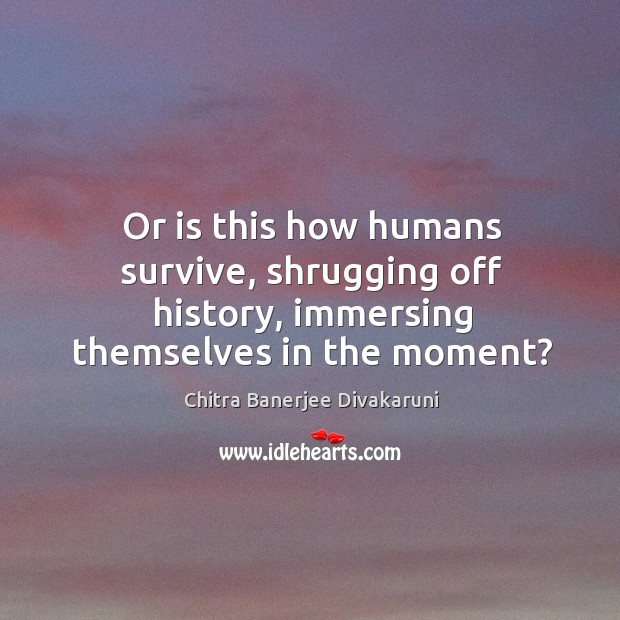 Or is this how humans survive, shrugging off history, immersing themselves in the moment? Image
