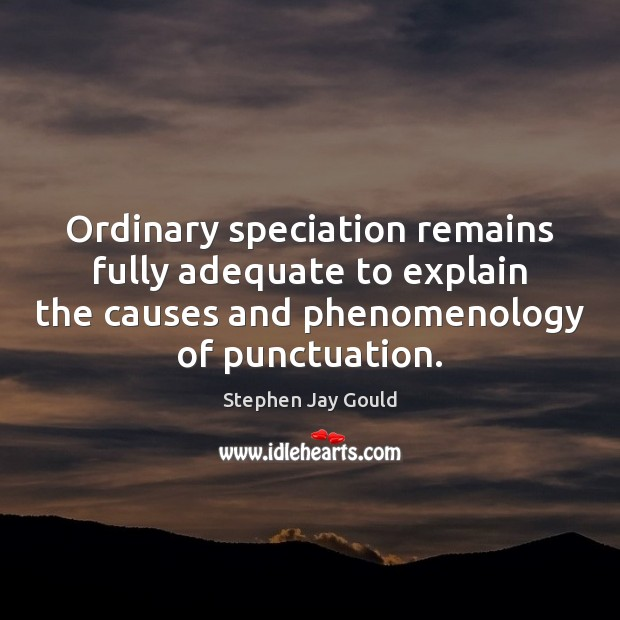 Ordinary speciation remains fully adequate to explain the causes and phenomenology of Image