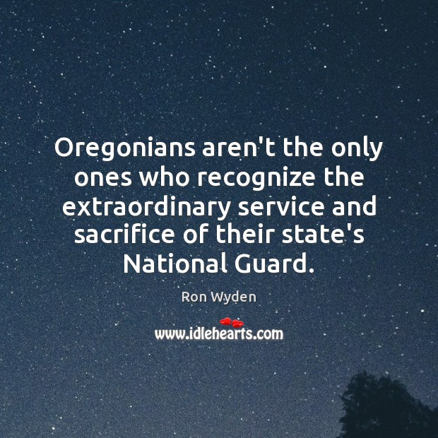 Image, Oregonians aren't the only ones who recognize the extraordinary service and sacrifice