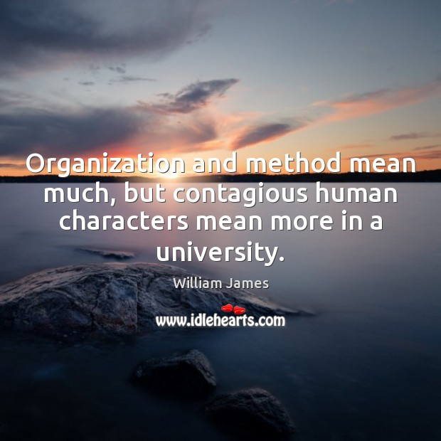 Organization and method mean much, but contagious human characters mean more in Image