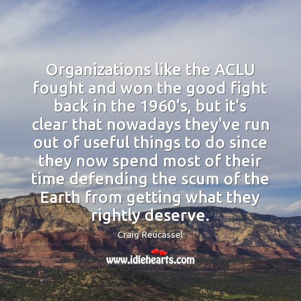 Image, Organizations like the ACLU fought and won the good fight back in