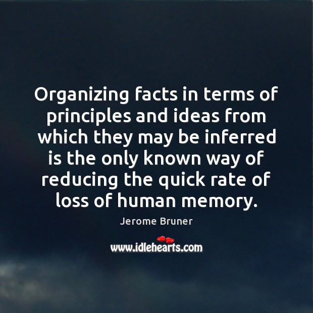 Organizing facts in terms of principles and ideas from which they may Image