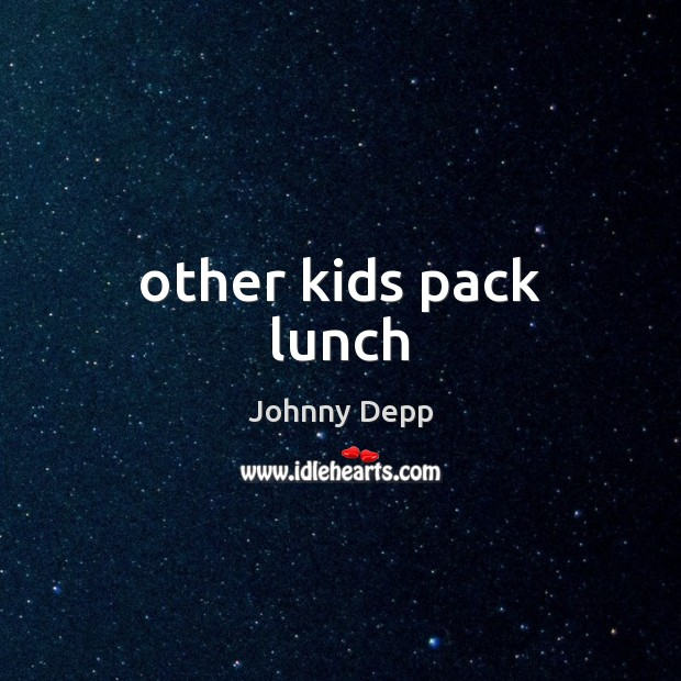 Other kids pack lunch Image