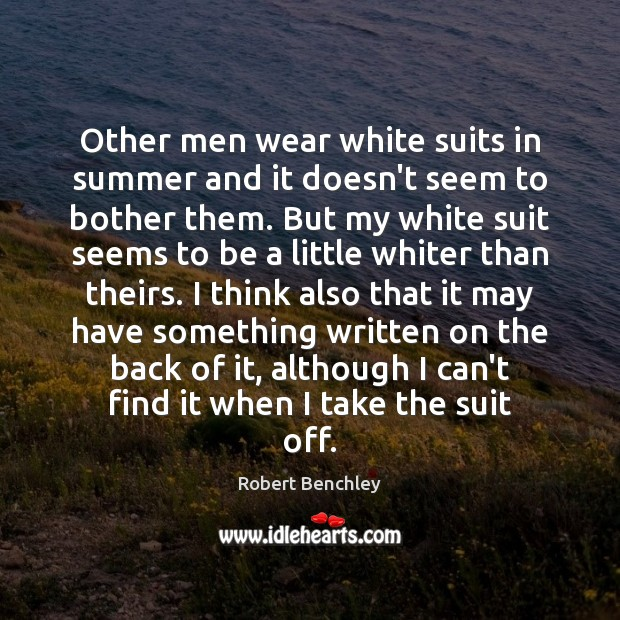 Image, Other men wear white suits in summer and it doesn't seem to