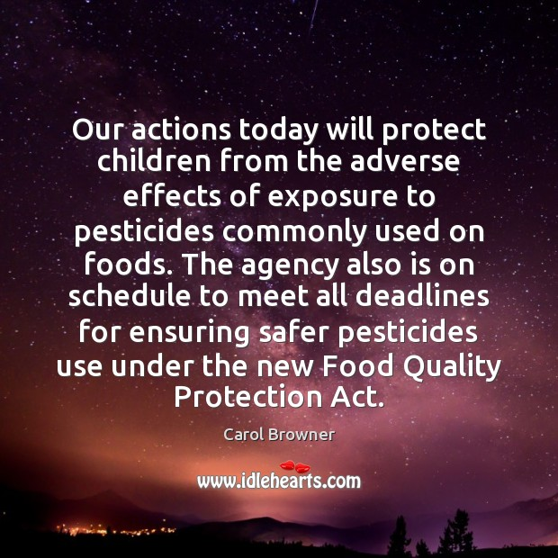 Image, Our actions today will protect children from the adverse effects of exposure