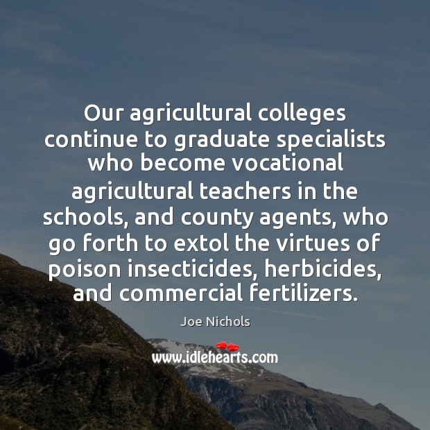 Our agricultural colleges continue to graduate specialists who become vocational agricultural teachers Image