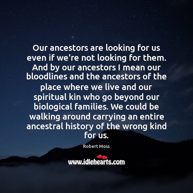 Our ancestors are looking for us even if we're not looking for Image