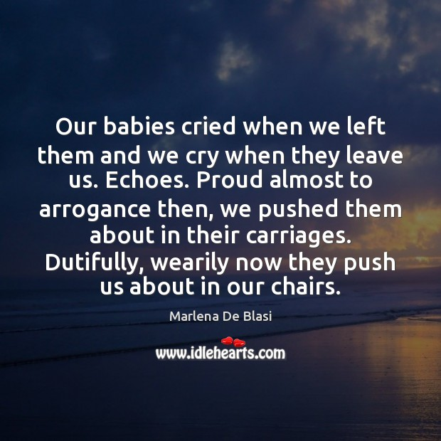 Our babies cried when we left them and we cry when they Image