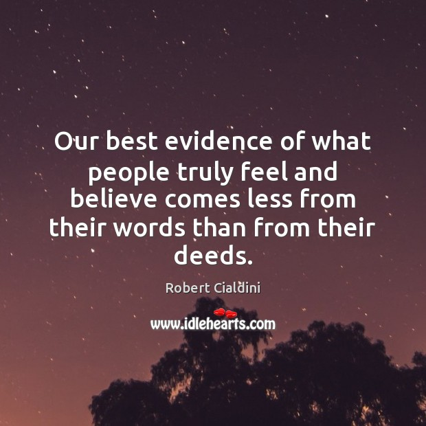 Our best evidence of what people truly feel and believe comes less Image