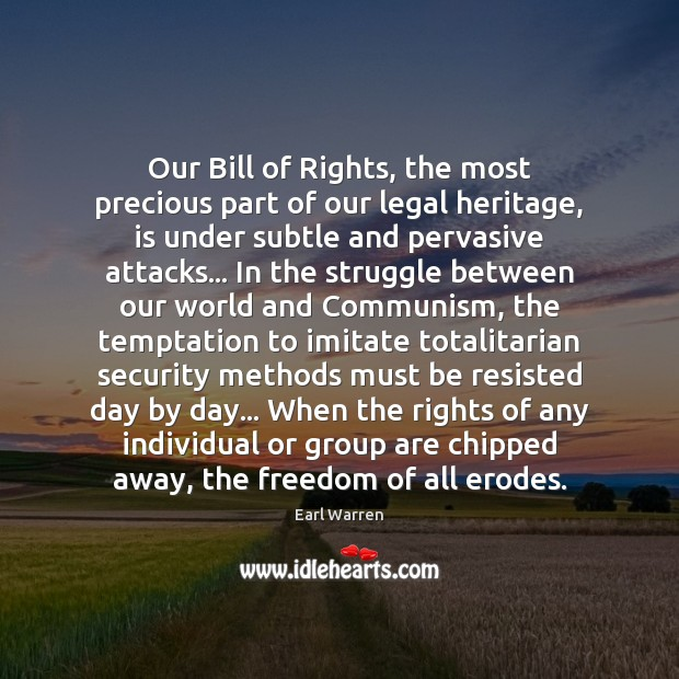 Our Bill of Rights, the most precious part of our legal heritage, Legal Quotes Image