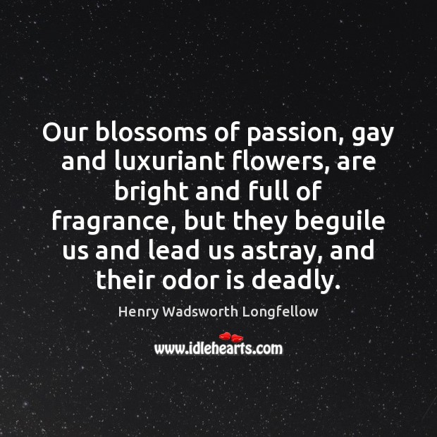 Our blossoms of passion, gay and luxuriant flowers, are bright and full Image