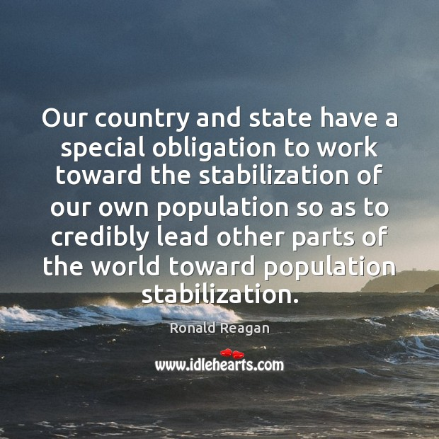 Image, Our country and state have a special obligation to work toward the