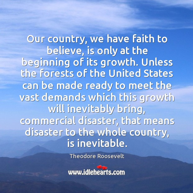 Our country, we have faith to believe, is only at the beginning Image