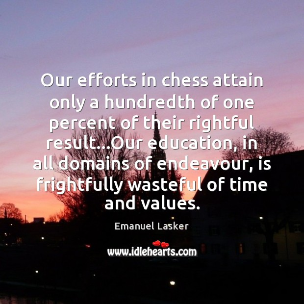 Our efforts in chess attain only a hundredth of one percent of Image