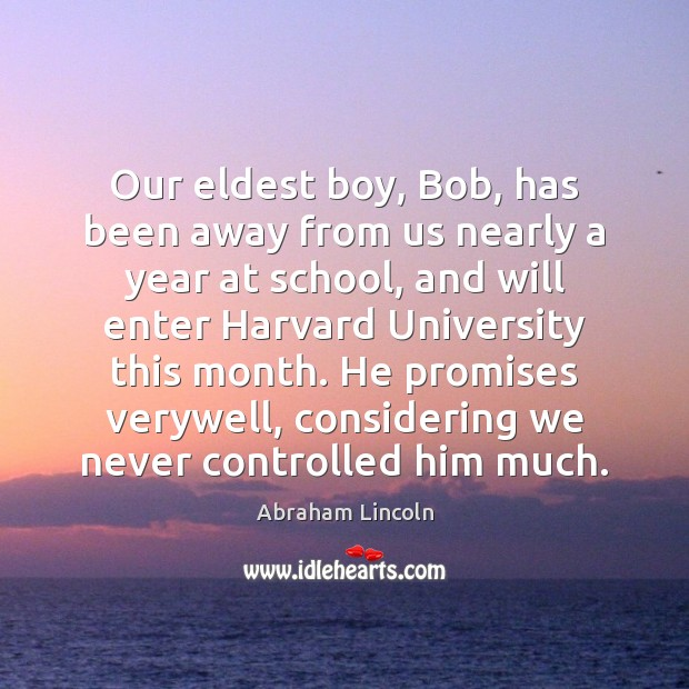 Image about Our eldest boy, Bob, has been away from us nearly a year