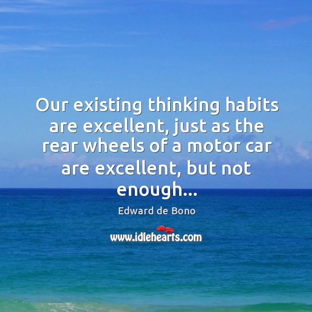 Our existing thinking habits are excellent, just as the rear wheels of Image