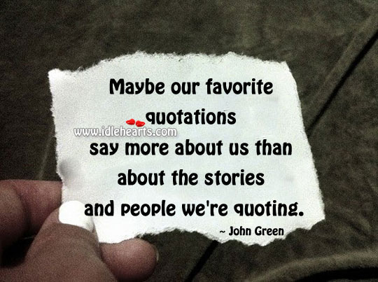The Stories And People We're Quoting.