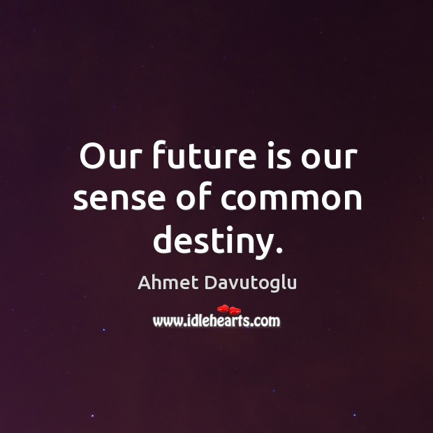 Image, Our future is our sense of common destiny.