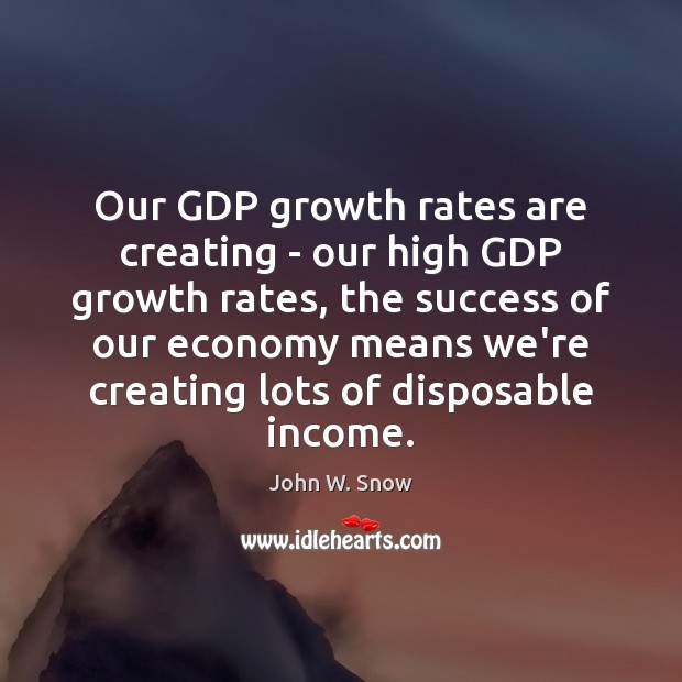 Our GDP growth rates are creating – our high GDP growth rates, Image