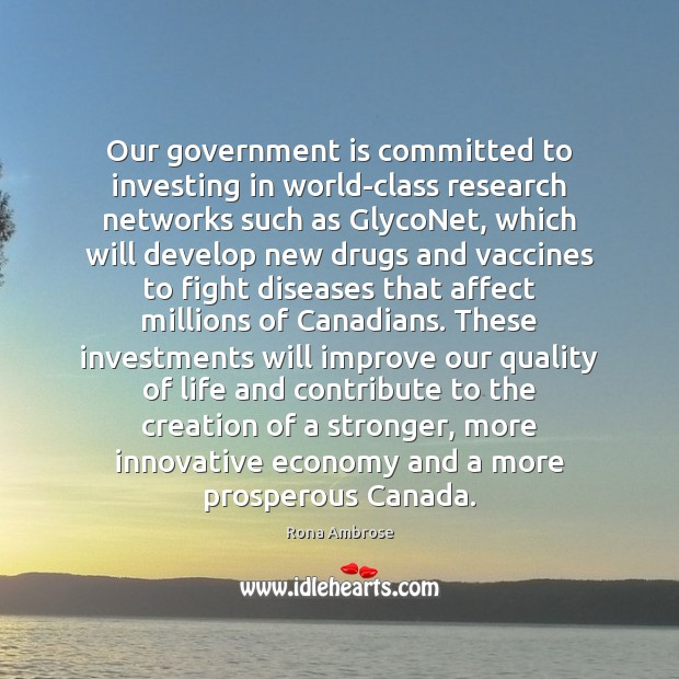 Image, Our government is committed to investing in world-class research networks such as