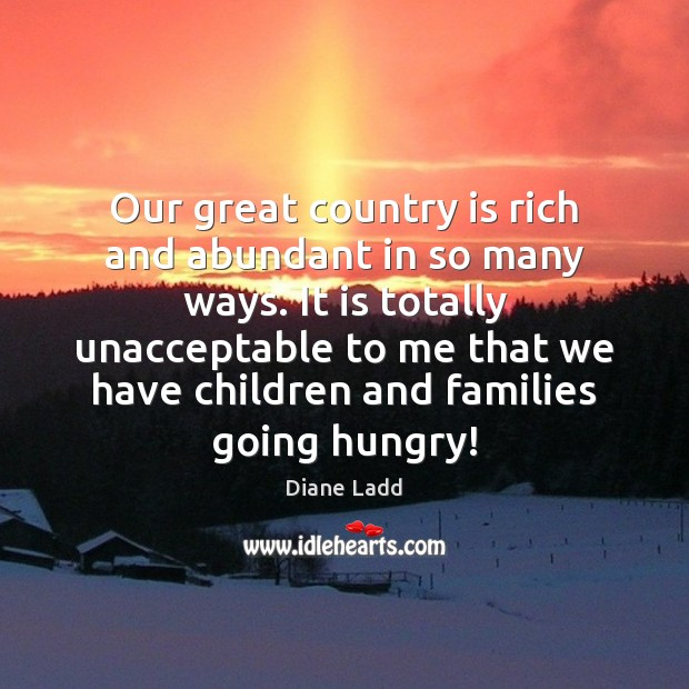 Our great country is rich and abundant in so many ways. It Image
