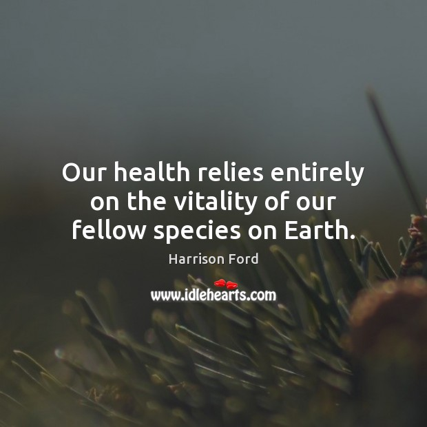 Image, Our health relies entirely on the vitality of our fellow species on Earth.