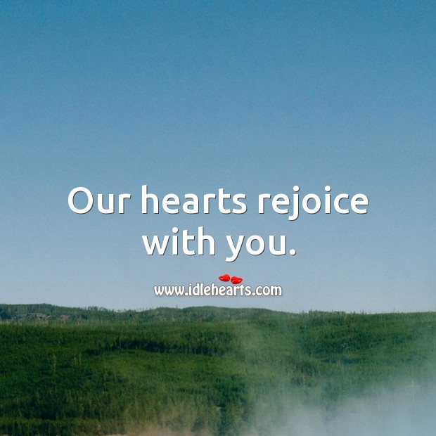 Our hearts rejoice with you. Baby Shower Messages Image