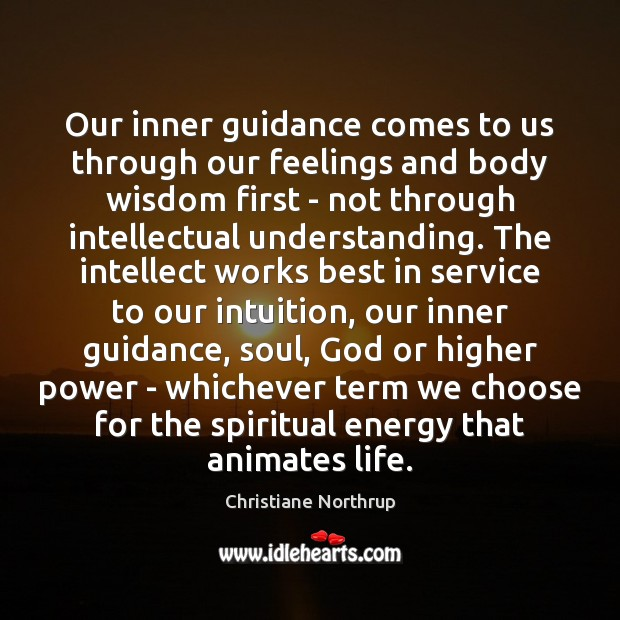 Our inner guidance comes to us through our feelings and body wisdom Image
