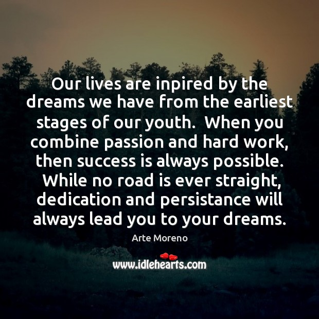 Our lives are inpired by the dreams we have from the earliest Image