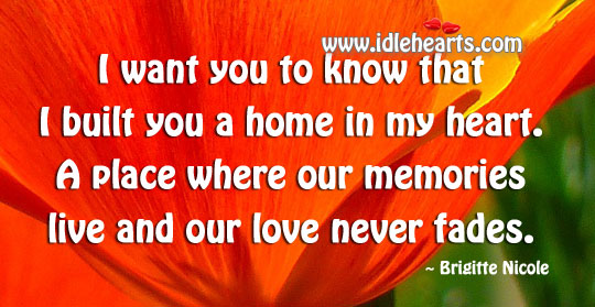 Heart is a place where our memories live Image