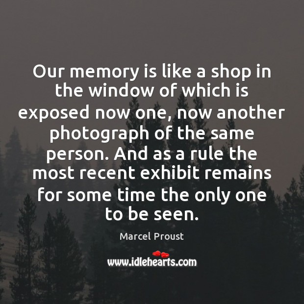 Our memory is like a shop in the window of which is Image