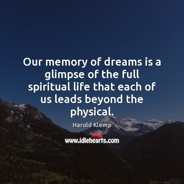 Image, Our memory of dreams is a glimpse of the full spiritual life