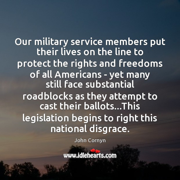 Image, Our military service members put their lives on the line to protect
