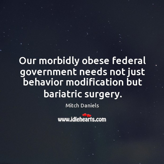 Image, Our morbidly obese federal government needs not just behavior modification but bariatric surgery.