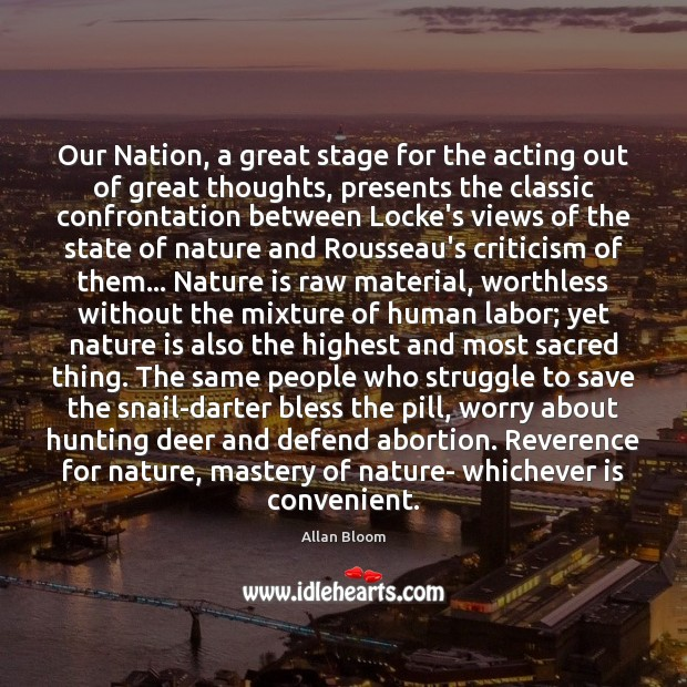 Our Nation, a great stage for the acting out of great thoughts, Image