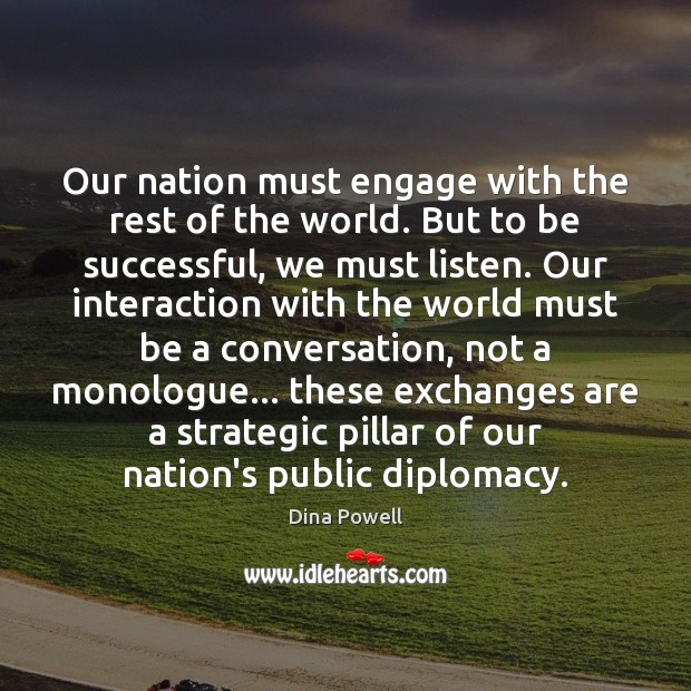 Our nation must engage with the rest of the world. But to Image