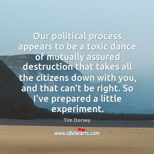 Our political process appears to be a toxic dance of mutually assured Image